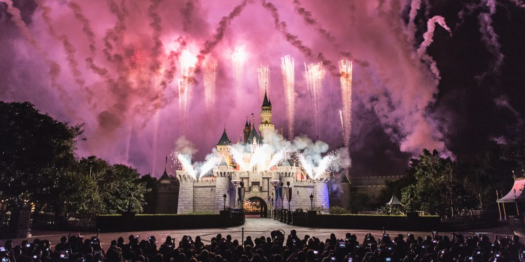 Picture of Fireworks at Disneyland castle