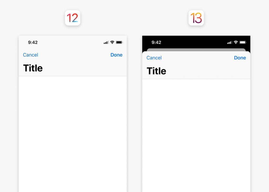 Screenshot of iOS UI