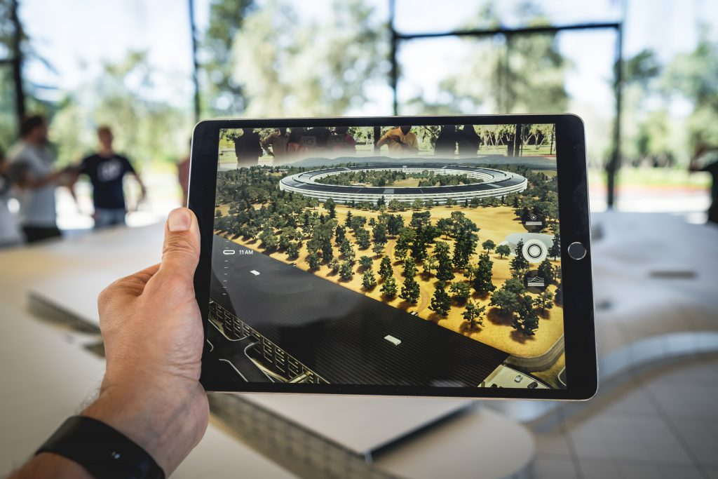 Picture of a tablet with AR