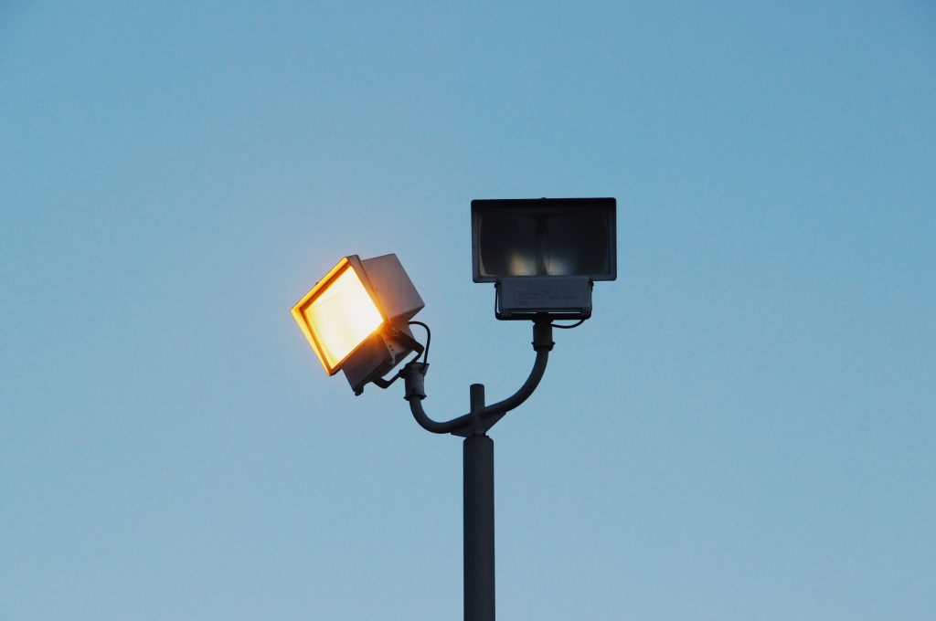 Broken street lamps