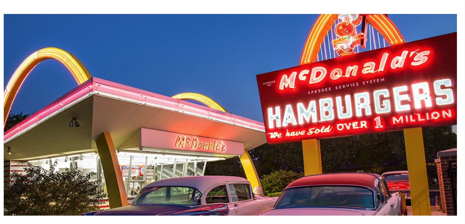 Picture of a McD store from outside