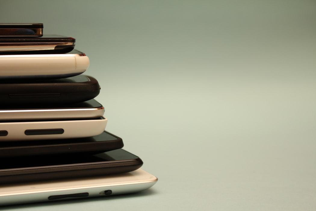 Different models of smartphones