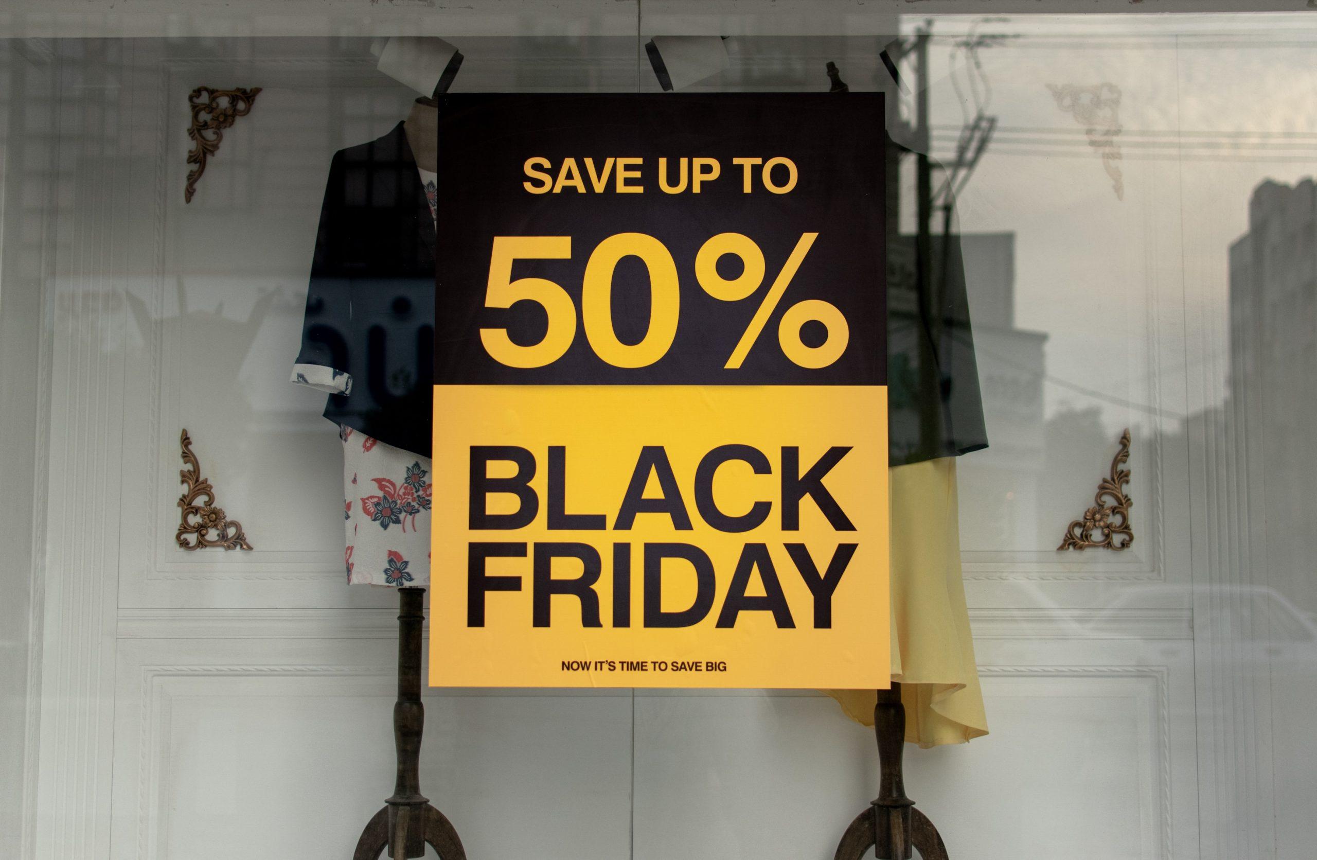 Sale poster outside a shop
