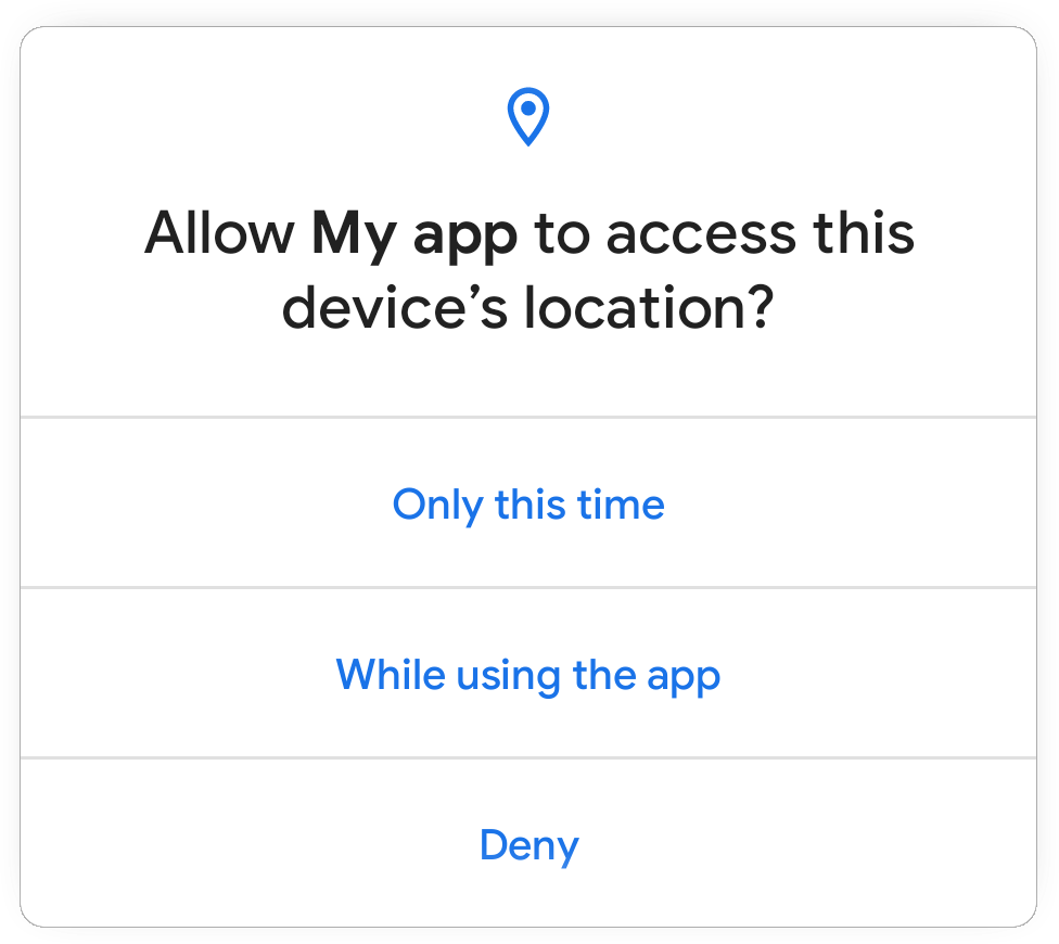 A screencap showing app permission dialogue in Android 11