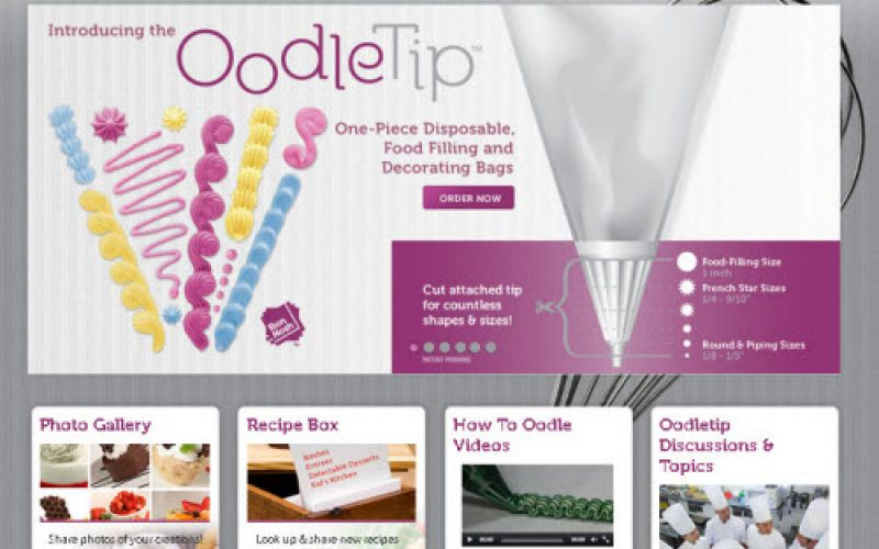 OodleTip – one piece disposable food filling & decorating bags by Bonnosh