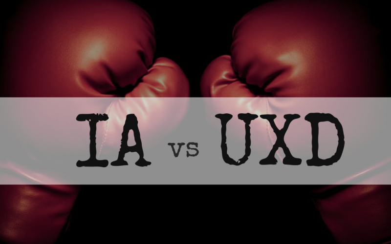 Information Architecture vs User Experience Design [Infographic]
