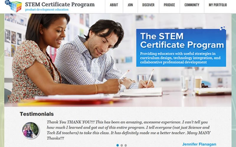STEM Certificate website launch